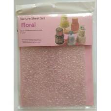 """Цветочный комплект текстурного листа,для кондитерских шедевров """"Floral"""" 6 шт-разных"""