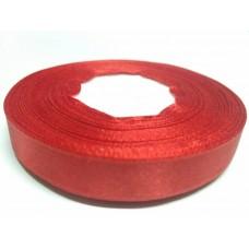 Лента атласная красная