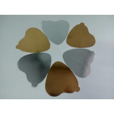 """Подложка """"Сердце"""" для капкейков, мусса, пирожного, конфет, 90*100 мм"""