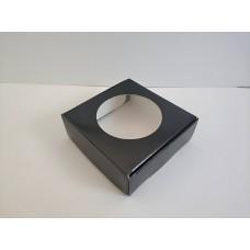 """Коробка """"Черная"""" лакированная для макаронс, пряников, конфет, 100*100*36"""