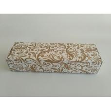 Упаковка для макарон на 5 шт. Размер 140*57*38. Золото узор.