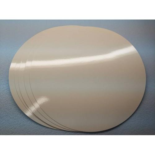 Подложка ламинированная белая, диаметр 50 мм
