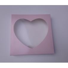 """Коробка для пряников """"Сердце"""" пудра, 150*150*35"""