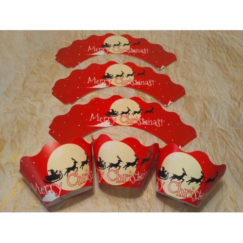 "Тарталетка для капкейков ""Merry Christmas"".6 шт.-7 грн."