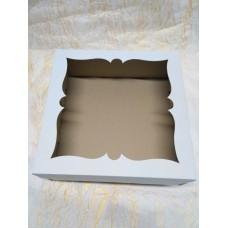 Коробка для торта.пирога,с окном.Размер 300*300*110 мм.