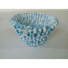 Бумажная форма для капкейков с голубыми сердечками, 50 шт.