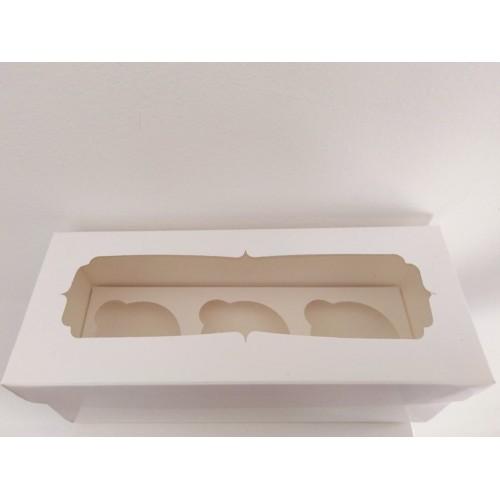 Коробка на 3 капкейка с окошком, 230*90*90