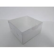 Коробка для торта с пластиковой крышкой, 200*200*105