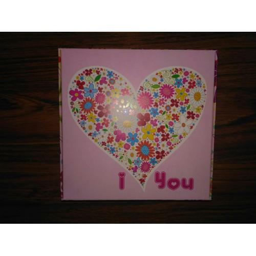 """Коробка """"I love you"""".Размер 150*150*50"""