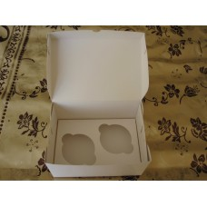 Коробка для 2 капкейков или пирожных. Размер 160*110*85