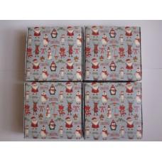 Новогодняя коробка для печенья,макарунс (macarons). Санта