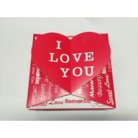 Подарочная Коробка Сердце Love. Размер 200*200*50.