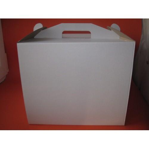 Коробка для торта из микрогофры,размер 300*300*250
