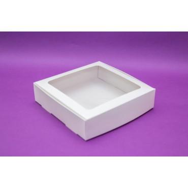 Коробка для макарон на 24 шт с окошком