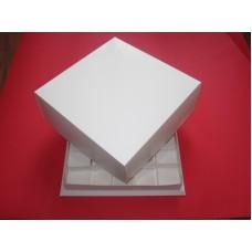 Коробка для закусок и десертов,размер 265 мм*265 мм*105 мм, внутри решётка для 25 стаканчиков.Стоимость 16 грн.