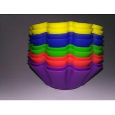 Силиконовая форма для выпечки.Диаметр дна: 45 мм.Высота бортика: 30 мм.Стоимость за 1 шт.